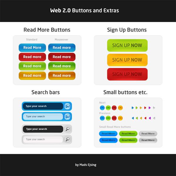 网页按钮设计素材