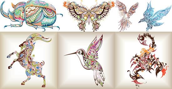 创意花纹动物