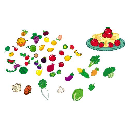 可爱的水果蔬菜