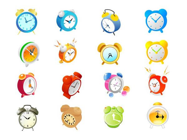 闹钟矢量素材-各式图标矢量图库-名片之家
