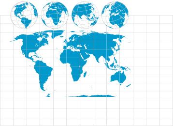 世界地图与地球-地图矢量图库-名片之家