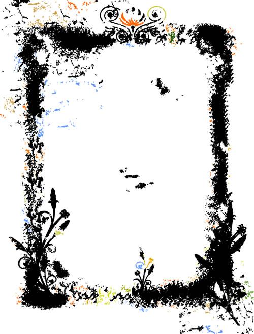 水墨边框背景_26素材